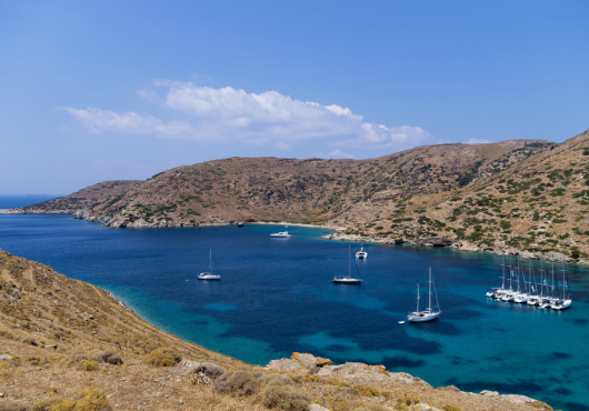 Kythnos Anchorage Itinerary White Sails