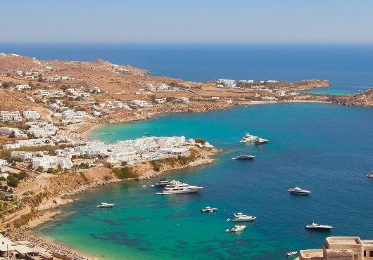 Mykonos Psarrou Beach Itinerary White Sails