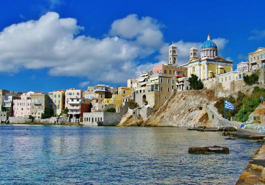 Syros Main Itinerary White Sails